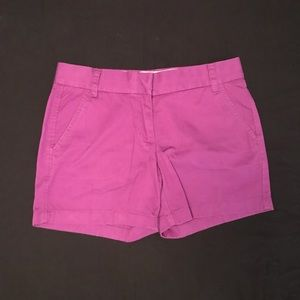 Purple J. Crew Chino Shorts